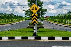 jesień kolor żółty parkowy drogowy Fotografia Stock