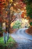 Jesień kolorowa droga zdjęcie stock