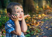 Jesień kolory dla małego artysty Zdjęcia Stock