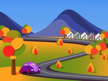 Jesień krajobraz ilustracji