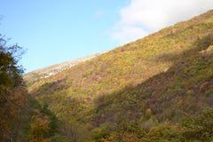 Jesień krajobraz w Apennines w Włochy Fotografia Royalty Free
