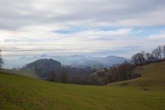 Jesień krajobraz w jur gór pasmie obraz stock