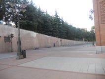 Jesień krajobraz w Wrześniu w Madrid w Spain obrazy stock