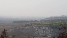 Jesień krajobraz z ptaka lotem zdjęcie wideo