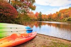 Jesień krajobrazu Cena jezioro Pólnocna Karolina Obrazy Stock