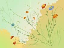 jesień kwiaty ilustracja wektor