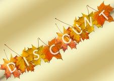 jesień liść sprzedaż Zdjęcia Royalty Free