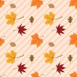 Jesień liści bezszwowy wzór 08 obraz stock