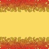 Jesień liści granica Jaskrawy barwiący Fotografia Stock