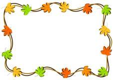 Jesień liści granicy rama Zdjęcia Stock