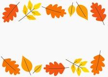 Jesień liści rabatowy tło ilustracja wektor