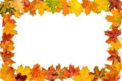 Jesień liści rama Obrazy Royalty Free