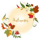 Jesień liści rama Fotografia Royalty Free