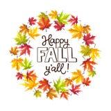 Jesień liści skład ilustracja wektor