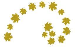 Jesień liści złoty współczynnik royalty ilustracja