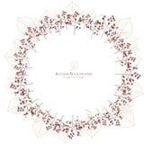 Jesień liścia i drzewa żyły okręgu tło royalty ilustracja
