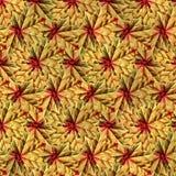 Jesień liścia mozaiki tło Obrazy Royalty Free