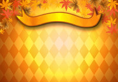 Jesień liścia tło royalty ilustracja