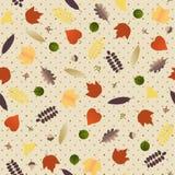 Jesień liście i jagody - bezszwowy wzór Zdjęcia Royalty Free