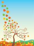 jesień liście jesienią ilustracja wektor