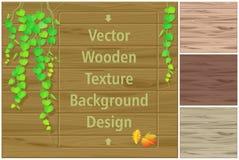 Jesień liście na drewnianej desce różnych cieniach drewniane tekstury i royalty ilustracja