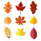 Jesień liście ustawiają 6 ilustracji