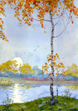 jesień melancholia ilustracji