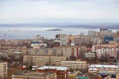 jesień miasta panoramiczny Saratov widok Rosja Fotografia Royalty Free