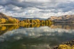 Jesień na wąż rzece Obrazy Stock