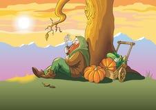 jesień ostatni liść Zdjęcie Royalty Free