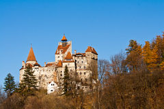 jesień otręby kasztel Dracula s Obraz Royalty Free
