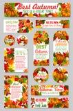 Jesień oznacza acorn liść, dyniowy wektorowy powitanie Obraz Stock