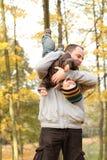 jesień park rodzinny szczęśliwy Zdjęcia Stock