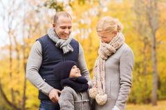 jesień park rodzinny szczęśliwy Zdjęcie Stock