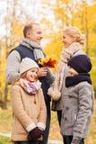 jesień park rodzinny szczęśliwy Zdjęcie Royalty Free
