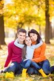 jesień park rodzinny szczęśliwy Obraz Stock
