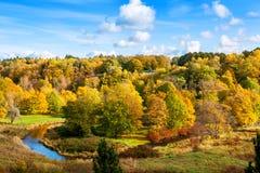Jesień park Toila, Estonia, Europa obrazy stock