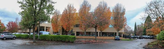 Jesień park w Portlandzkim Beaverton fotografia stock