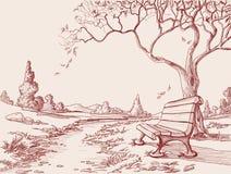 jesień parka nakreślenie royalty ilustracja