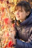 jesień piękna portreta kobieta Obraz Royalty Free
