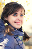 jesień piękna portreta kobieta Obrazy Royalty Free
