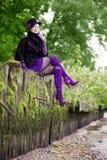 jesień piękny dziewczyny park Obrazy Royalty Free
