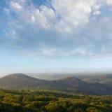 Jesień piękny las Obrazy Royalty Free