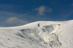 Jesień pierwszy śnieg Obraz Royalty Free