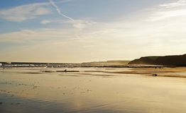 jesień plaża Obrazy Royalty Free