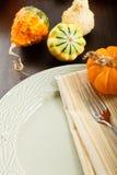 jesień położenia stół Fotografia Stock