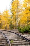 Jesień pociągu ślada Obrazy Royalty Free