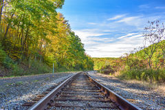 Jesień pociągu ślada Obraz Royalty Free