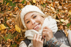 Jesień portret obrazy stock