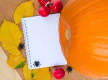 Jesień przepisy Fotografia Royalty Free
